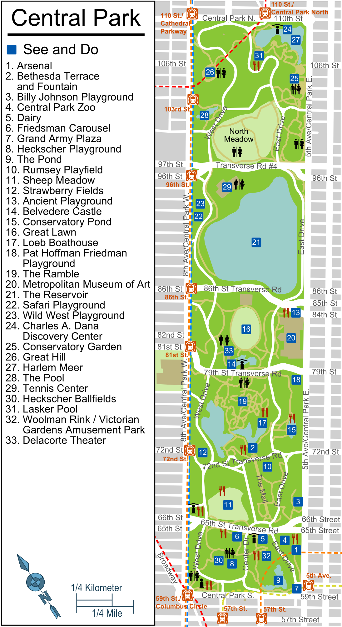 Similiar Tour Central Park Map Printable Keywords